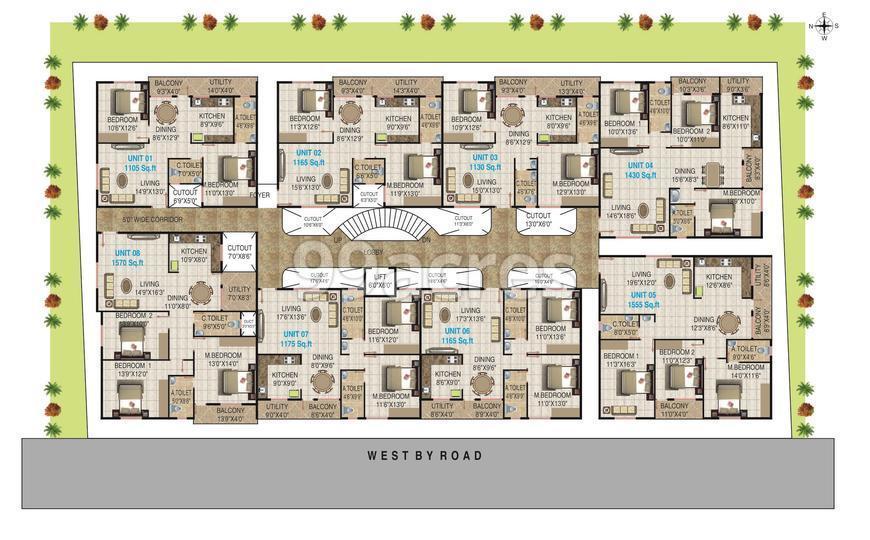 Surya Palace Typical Floor Plan