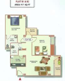 2 BHK Apartment in Synergy Paradise