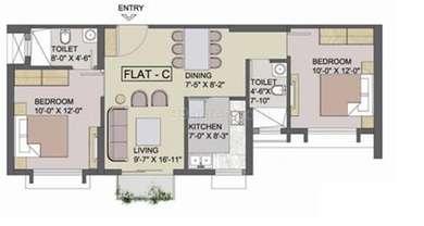 2 BHK Apartment in Tata Eden Court