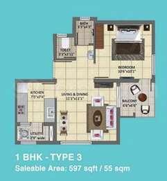 1 BHK Apartment in Tata New Haven Ribbon Walk