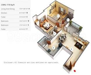 2 BHK Apartment in Teerth Towers