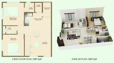 2 BHK Apartment in TCH Garden Residency