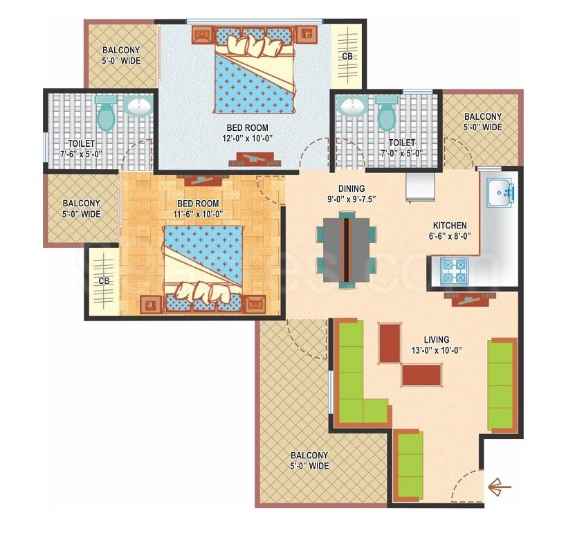 Express Builders Delhi Express Zenith Floor Plan Express Zenith