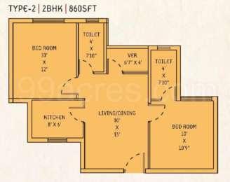 2 BHK Apartment in Lavanya Apartments