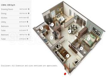 2 BHK Apartment in Golf View