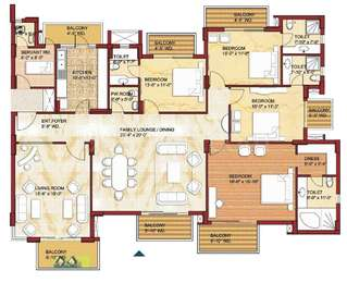 4 BHK Apartment in