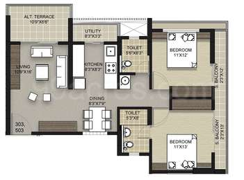 2 BHK Apartment in Tridel Ultra Ovation