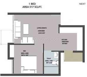 1 BHK Apartment in TVH Taus