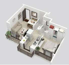1 BHK Apartment in Tulsi Nisarg