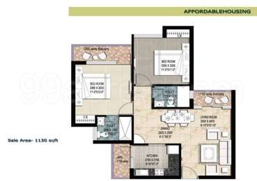 2 BHK Apartment in Tulsiani Imperial Green