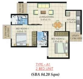 2 BHK Apartment in Umiya Quatro D