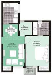 1 BHK Apartment in Unitech Uniworld Gardens 2