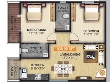 United Developers United Elysium 2 Floor Plan - United