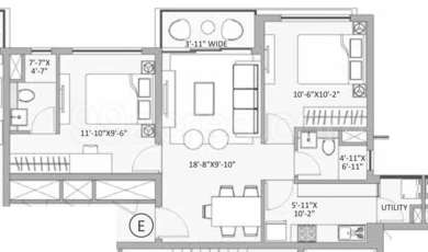 2 BHK Apartment in PS One 10