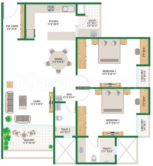 Alembic real estate alembic urban forest floor plan for Guntha to sq ft