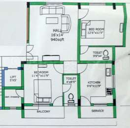 2 BHK Apartment in Mirraas Apartments