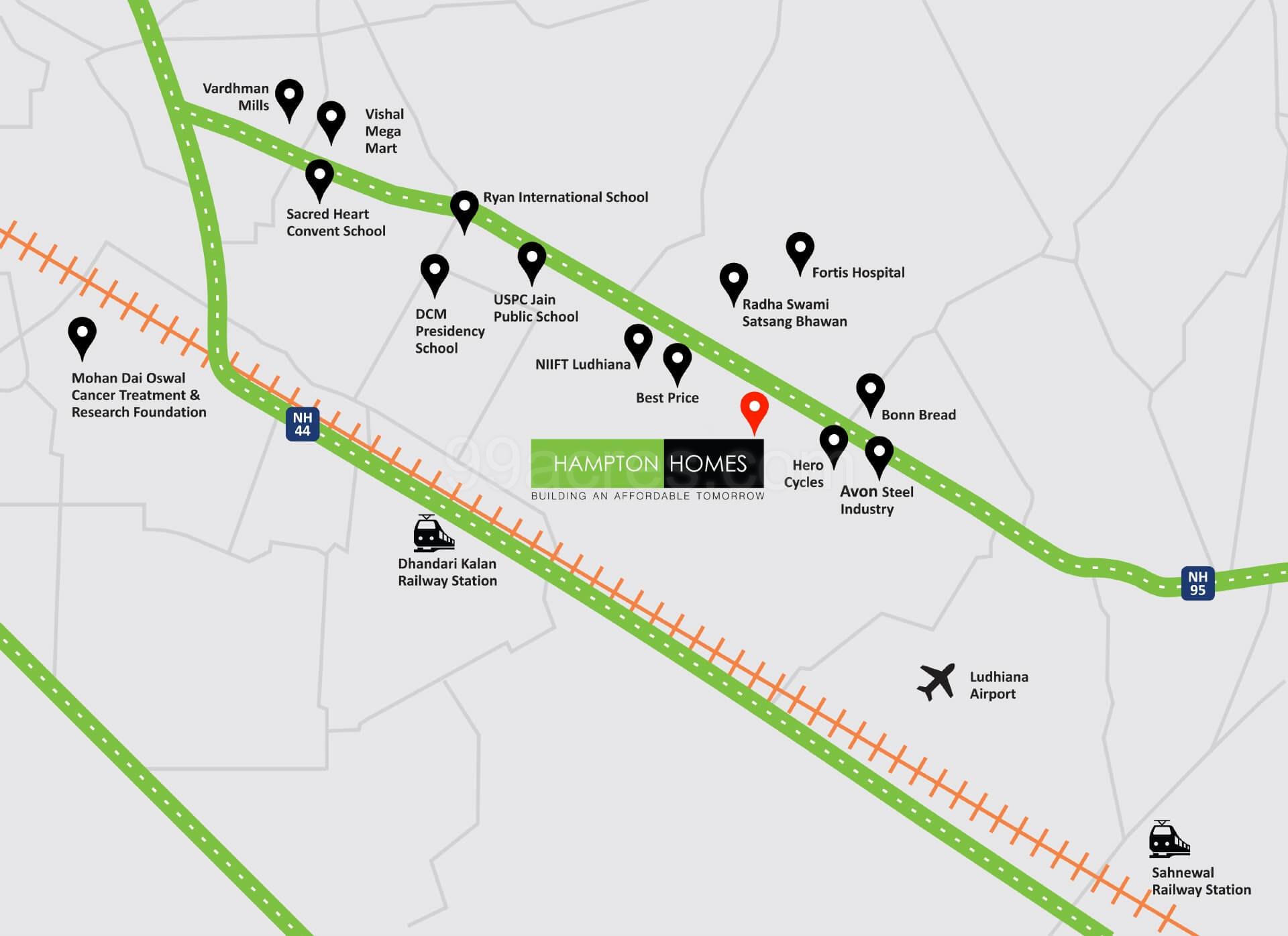 Finton Homes Hampton Homes Map - Hampton Homes Chandigarh ...