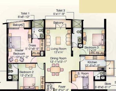 Jasminium apartment floor plan jasminium apartment for Guntha to sq ft