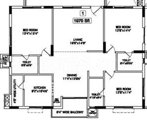 3 BHK Apartment in The Ozone Heights