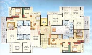 2 BHK Apartment in Pinnacle Residency