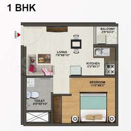 1 BHK Apartment in Sowparnika Indraprastha Positive Homes