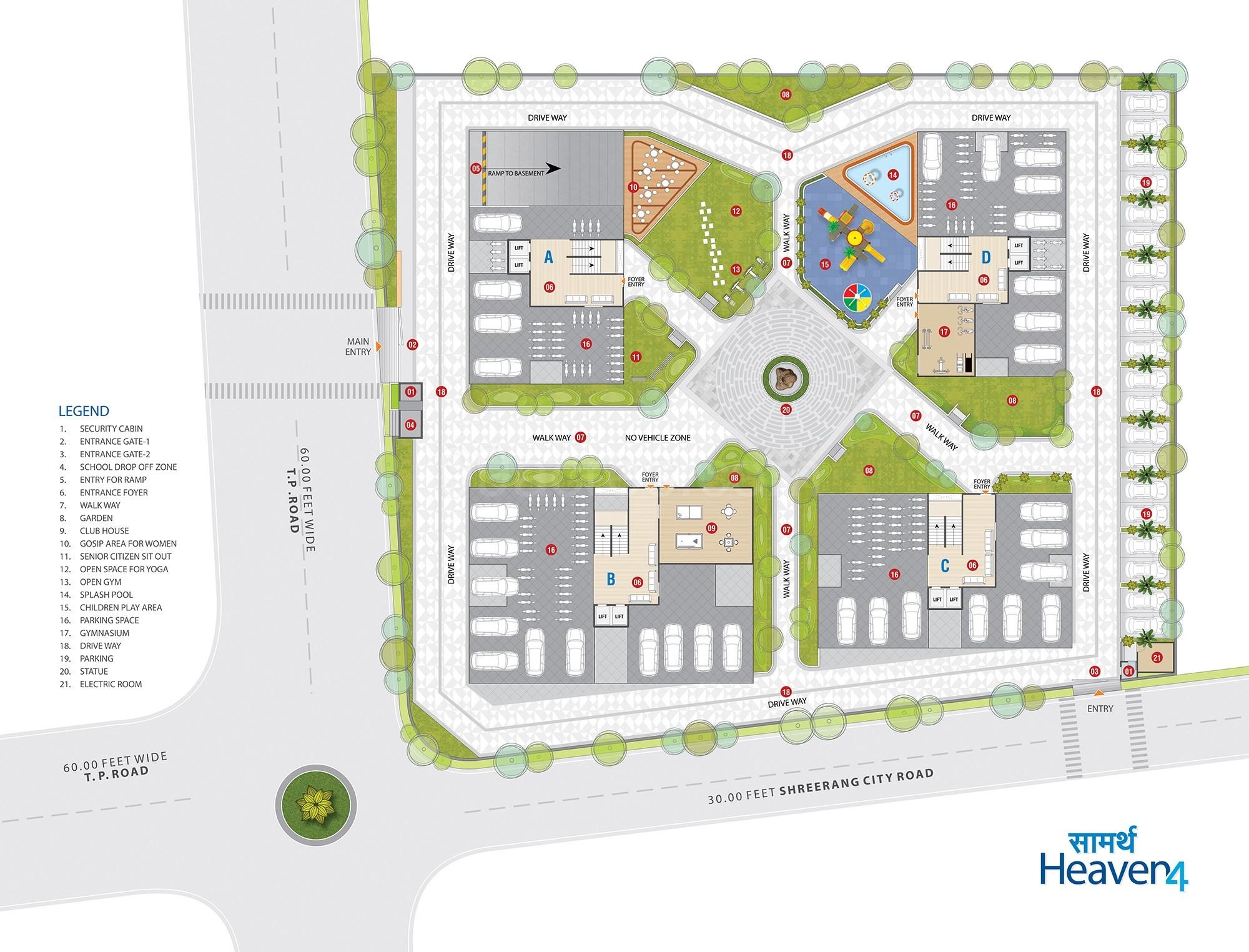 SRS Corporation Saamarth Heaven 4 Floor Plan - Saamarth Heaven 4