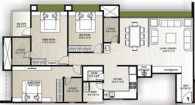 3 BHK Apartment in Vaishnodevi Lifestyle
