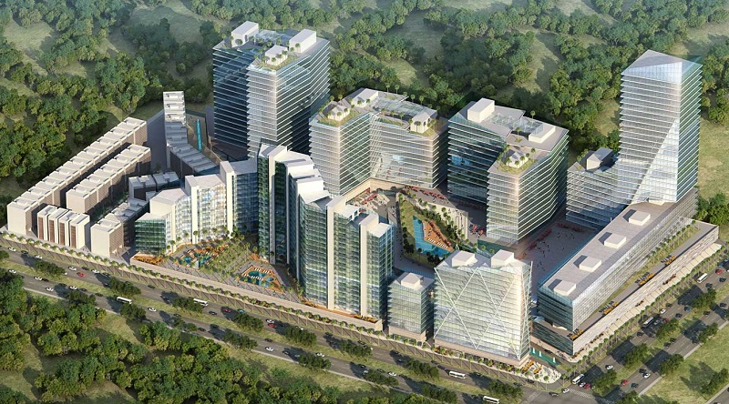 Unnati Fortune World Executive Office Floors Aerial View