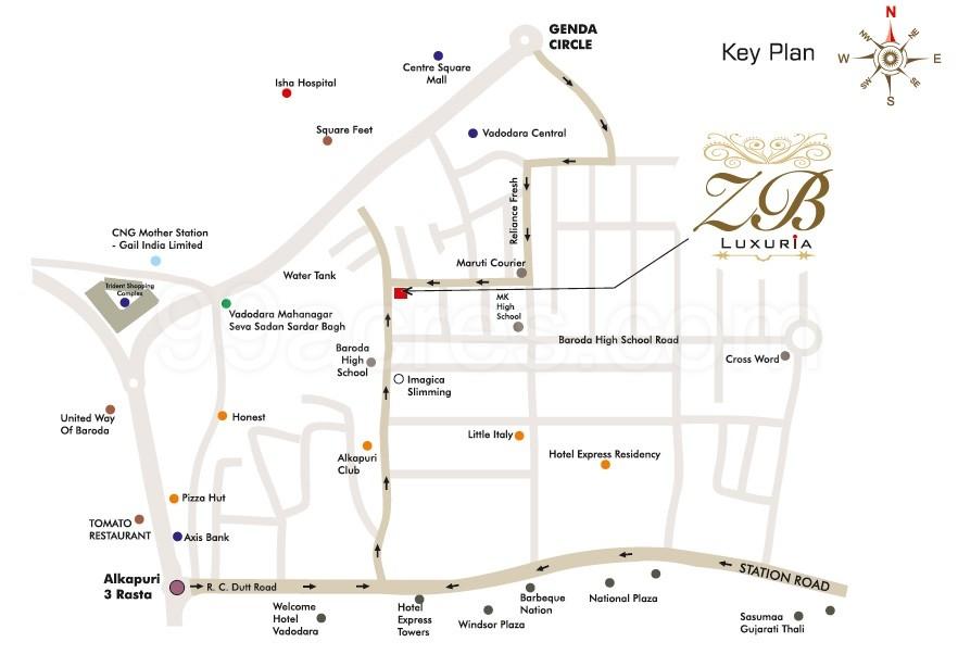 Baroda India Map.Urmi Enterprise Urmi Zb Luxuria Map Urmi Zb Luxuria Alkapuri
