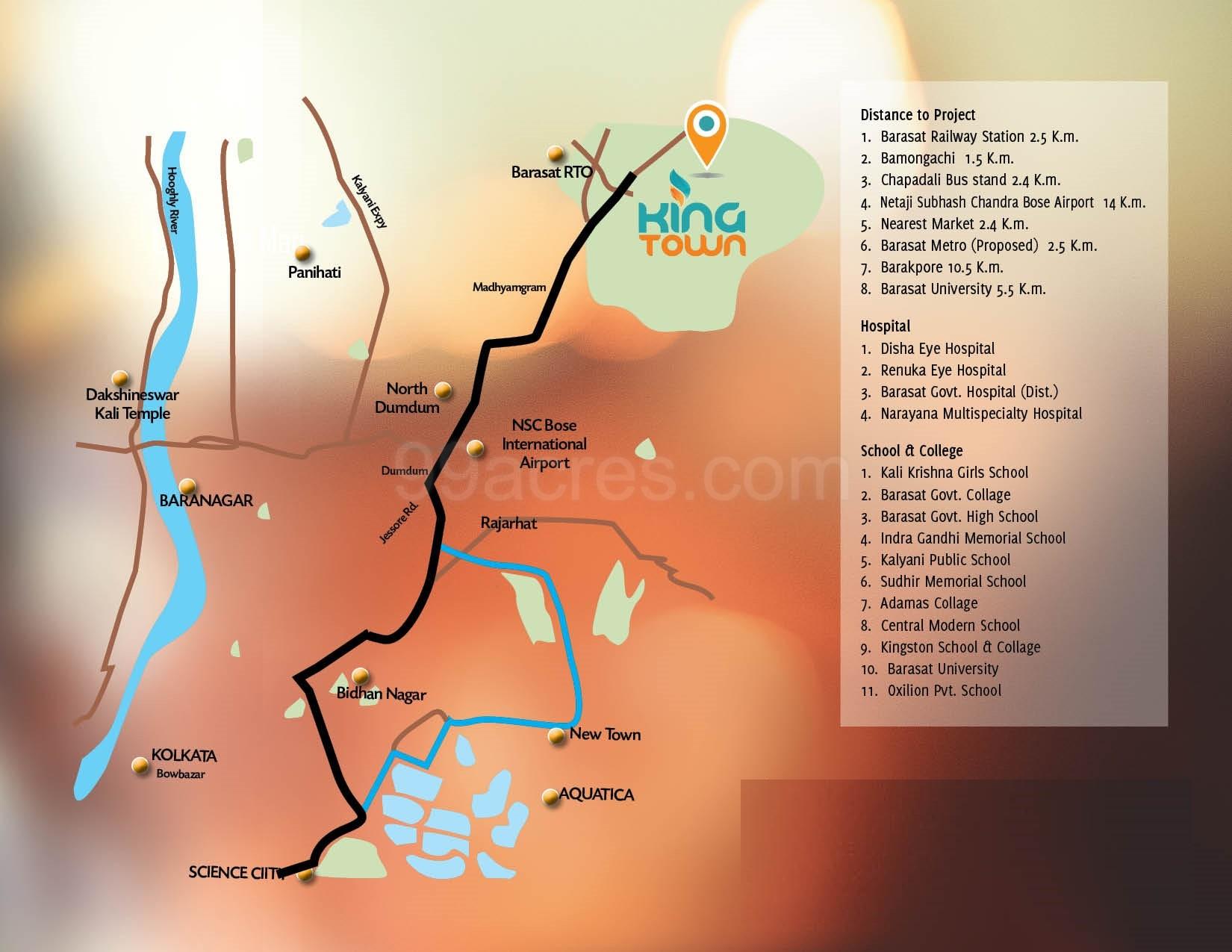 Usashi Realstates Usashi King Town Map - Usashi King Town Barasat