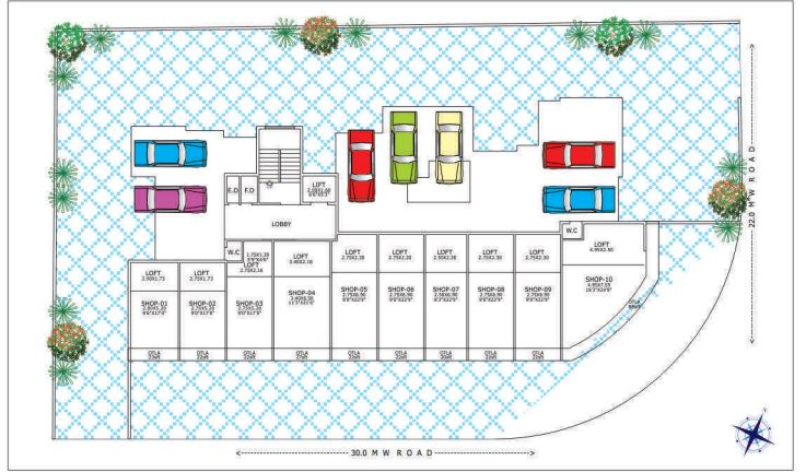 Vardhman Vian Parking Plan and Shop plan