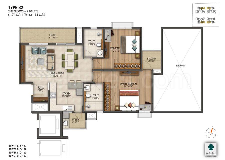Vaswani Group Builders Vaswani Brentwood Floor Plan