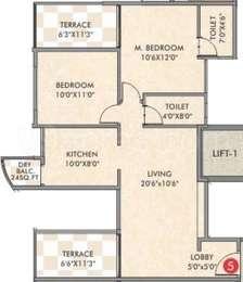 2 BHK Apartment in Kingston Atlantis