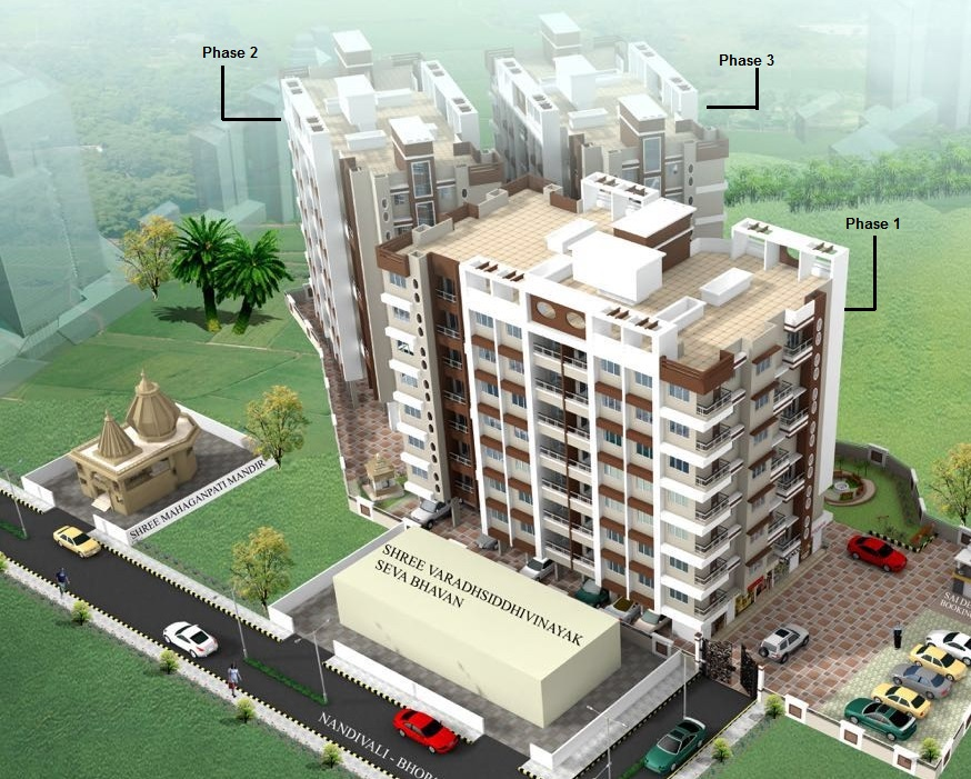 Vedant realty vedant orchid residency dombivli east for Guntha to sq ft