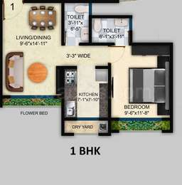 1 BHK Apartment in Veena Dynasty