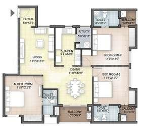 Hazel - 3BHK+3T(31), Super Area: 1567 sq ft, Apartment
