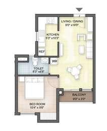 2 BHK Apartment in Hazel