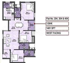 3 BHK Apartment in VGN Stafford