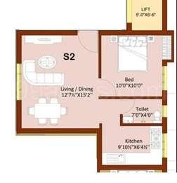 1 BHK Apartment in Vigneshwara Kasthuris Splendour
