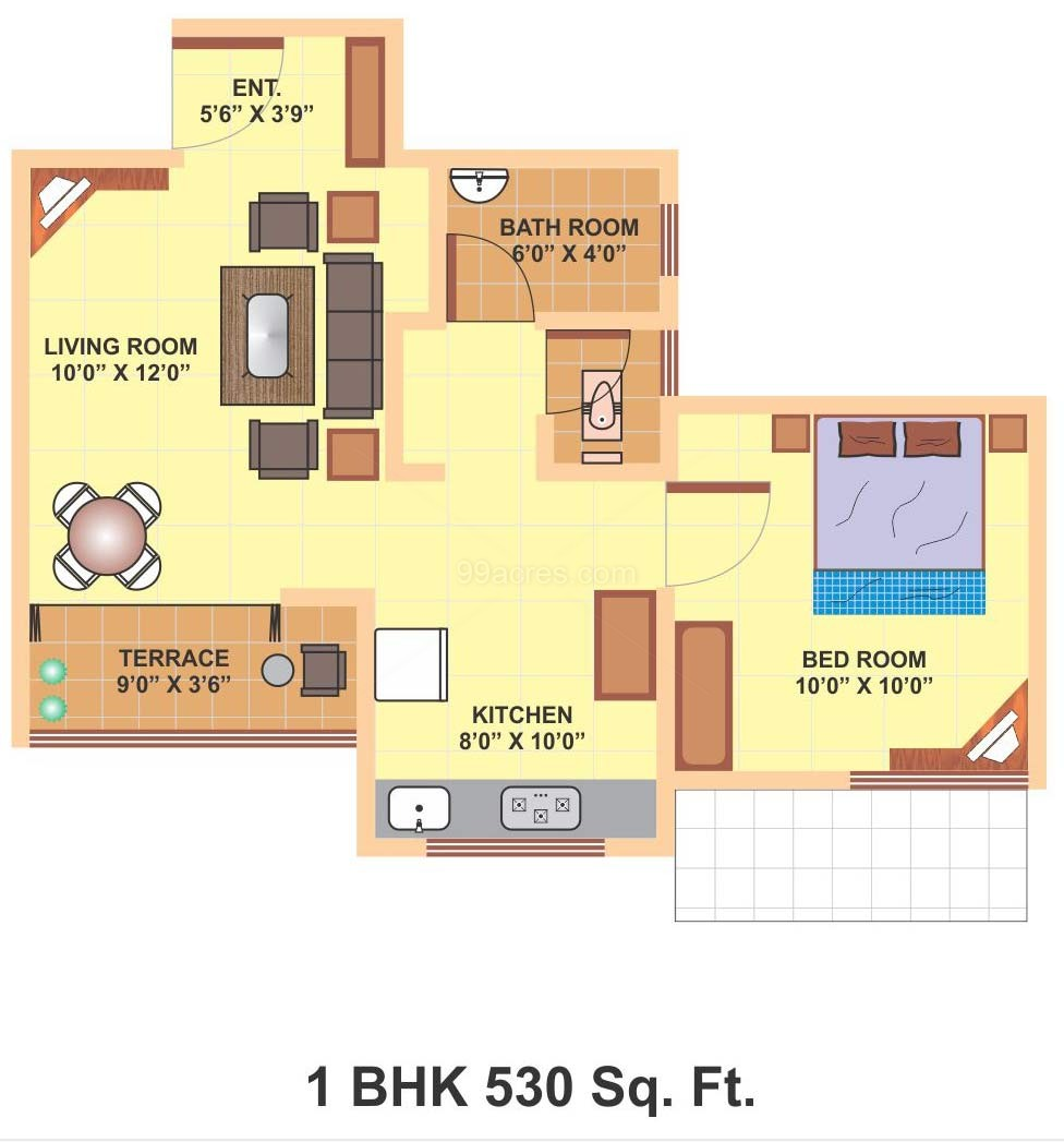 Vijay sancheti builders vijay sketch book floor plan for Home design 700 sq ft