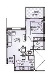 1 BHK Apartment in Yashwin Jeevan and Orchid