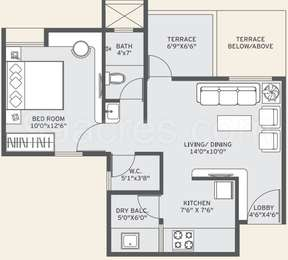 1 BHK Apartment in Yashwin Anand