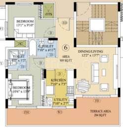 2 BHK Apartment in The Gem Grove