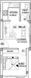 1 BHK Apartment in Viva Varish
