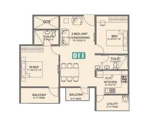 2 BHK Apartment in Vmaks Laurel