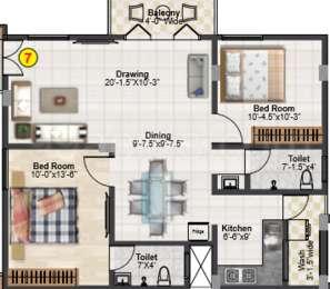2 BHK Apartment in Wonder Bharathi Hacienda