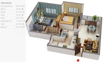 2 BHK Apartment in XS Real Symphony