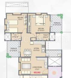 2 BHK Apartment in Yash Orchid