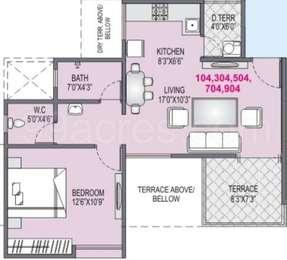 1 BHK Apartment in Yash Platinum